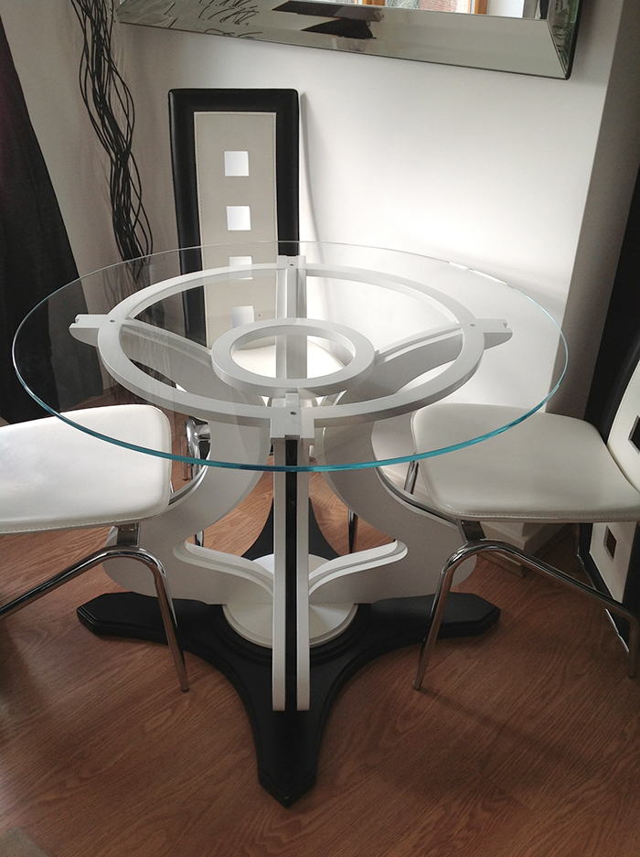 Bespoke dining room tables andrew west interiors Bespoke glass furniture